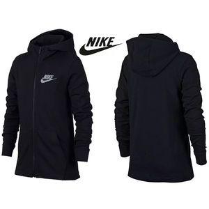 NWT Nike Big Boys Jersey Full Zip Hoodie